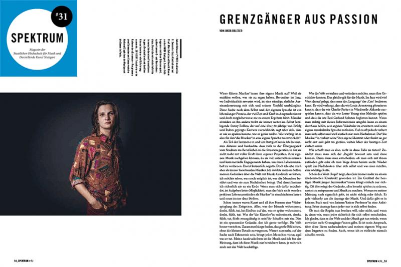 Magazin der Staatlichen Hochschule für Musik und Darstellende Kunst Stuttgart #31 · 2018