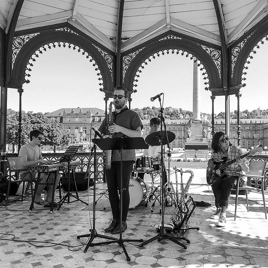 Bastian Brugger Quartett · Hannes Stollsteimer · Bastian Brugger · Lucas Klein ·. Jakob Obleser · August 2019