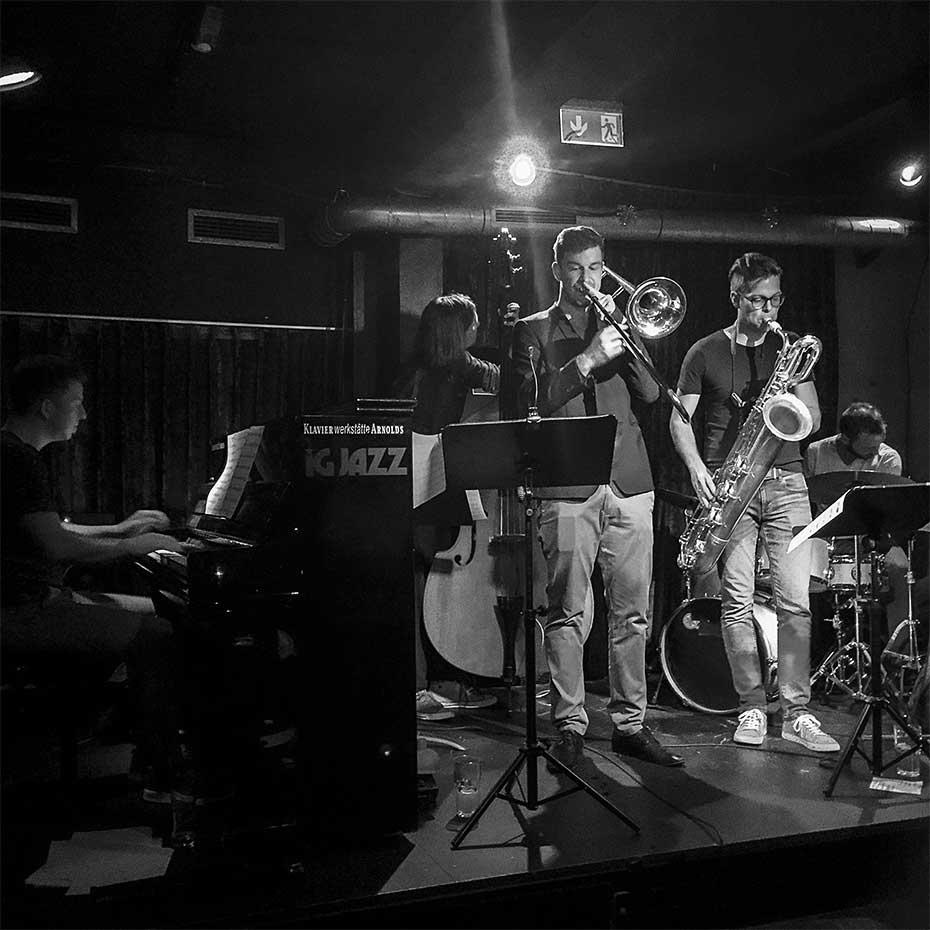 Christoph Beck Quintett · Martin Sörös, Jakob Obleser, Marco Laibach, Christoph Beck, Felix Schrack · Stuttgart, August 2019